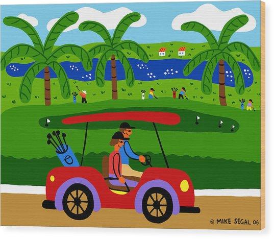 The Golfers Wood Print