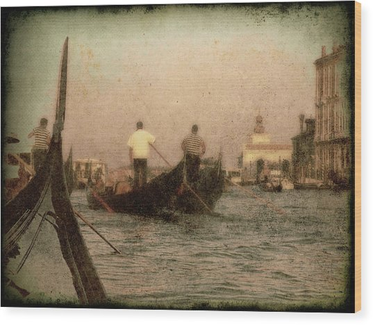 The Gondoliers Wood Print