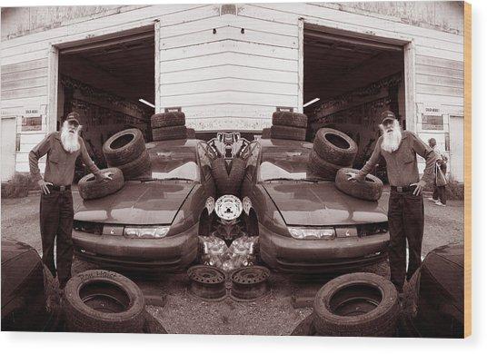 The Good Old Boy Twin's Garage Wood Print