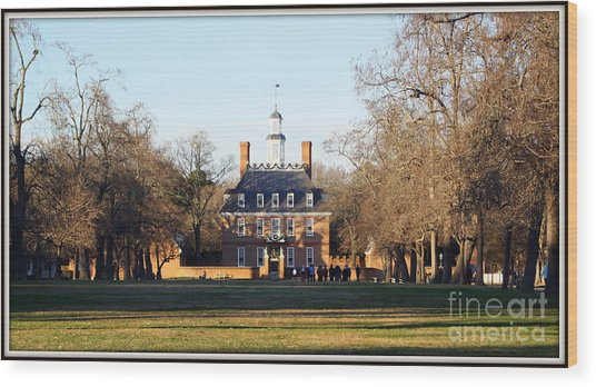 The Governor's Palace Wood Print