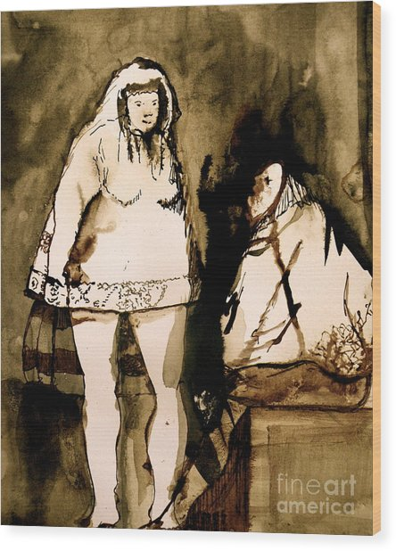 The Goya Sisters Wood Print by Jain McKay