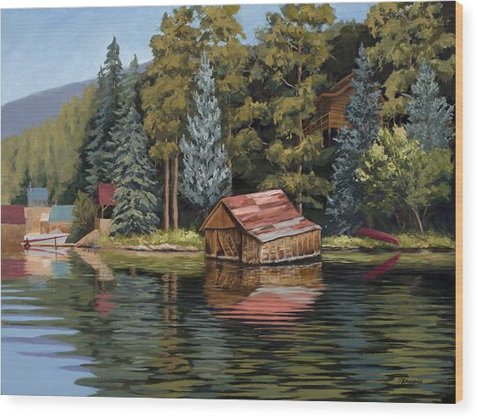 The Grand Boathouse II Wood Print