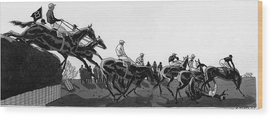 The Grand National At Aintree Wood Print