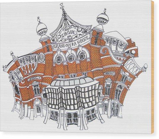 The Grand Opera House Belfast Wood Print by Tanya Mai Johnston