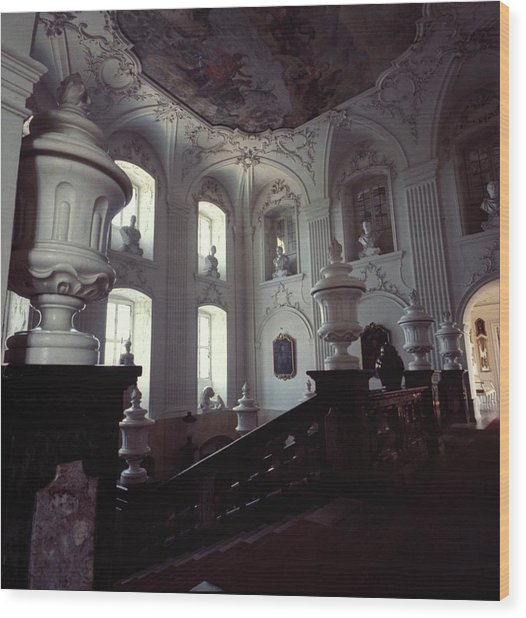 The Grand Staircase At Schloss Fasanerie Wood Print