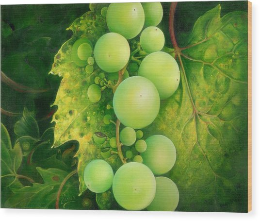 The Grapes Wood Print
