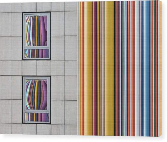 The Gray And The Colors Wood Print by Guillaume Legraverend