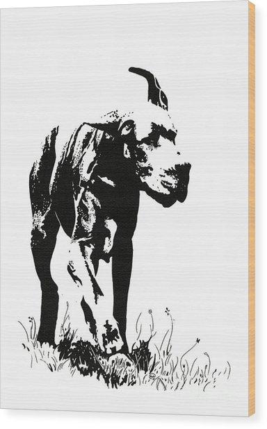 The Great Dane Wood Print