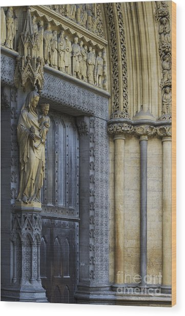The Great Door Westminster Abbey London Wood Print