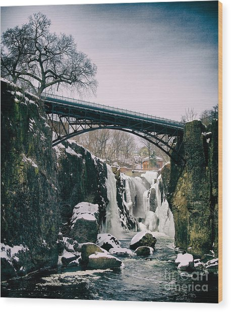 The Great Falls Of Paterson Wood Print