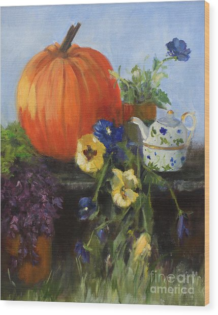 The Great Pumpkin Wood Print by Sandy Lane