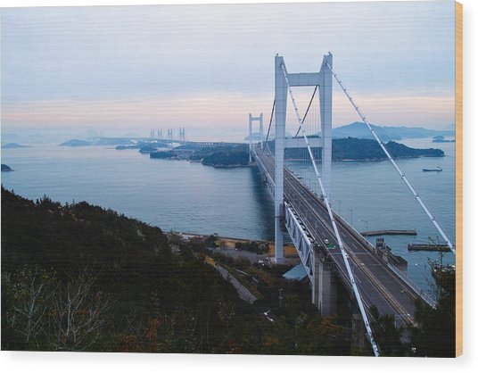 The Great Seto Bridge Wood Print