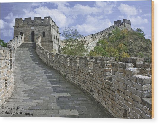 The Great Wall Of China At Mutianyu 1 Wood Print
