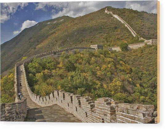 The Great Wall Of China At Mutianyu 2 Wood Print