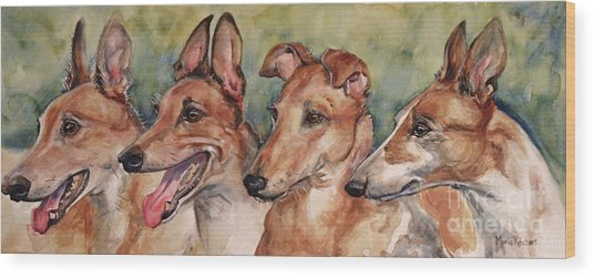 The Greyhounds Wood Print