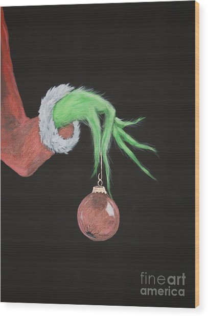 The Grinch Wood Print