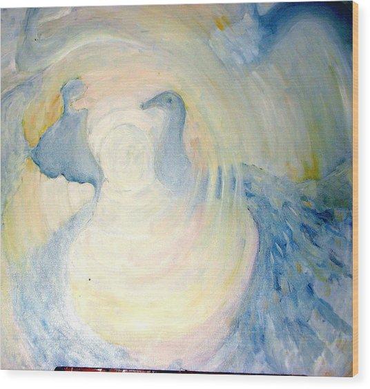 The  Guardian Angels  Wood Print by Shoshana Donaya