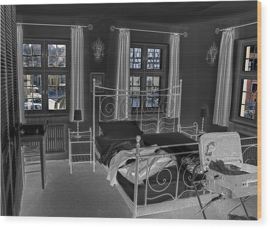 The Guest House Wood Print