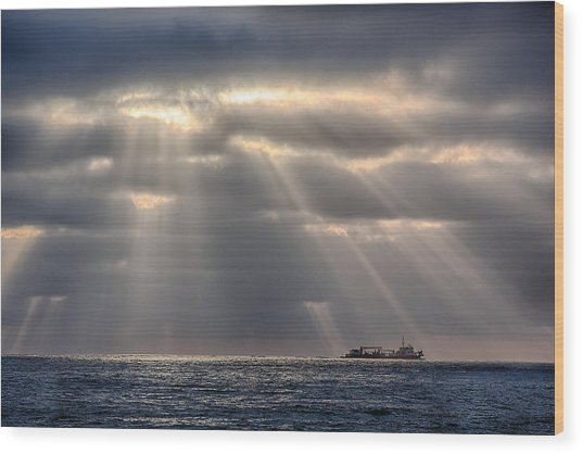 The Guiding Light Wood Print by Peter Tellone