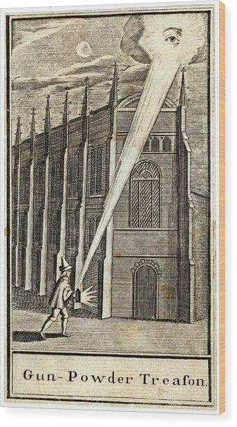 The Gunpowder Plot -- An Allegorical Wood Print