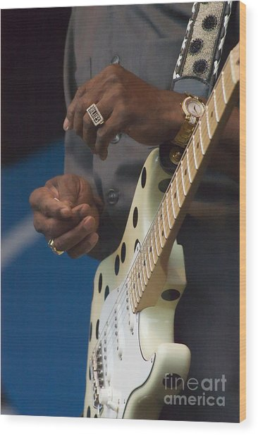 The Hands Of Buddy Guy Wood Print