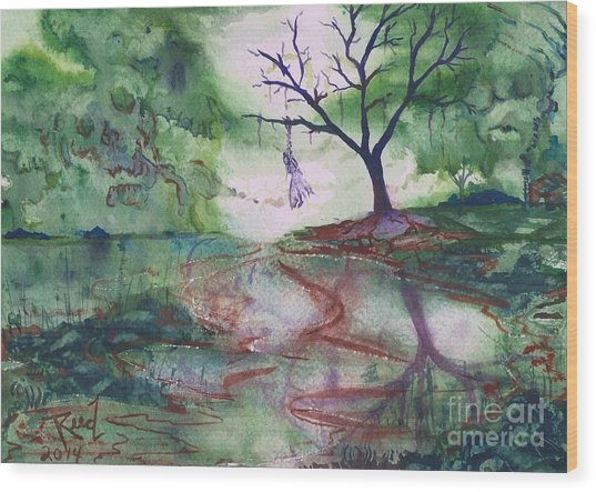 The Hanging Tree  Wood Print