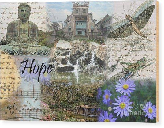 The Happy Buddah Wood Print