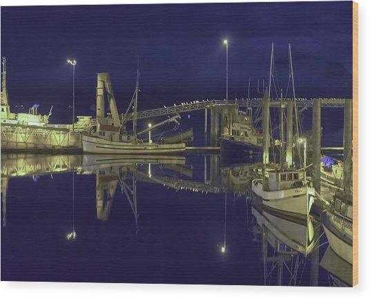 The Harbor At 1030pm Wood Print