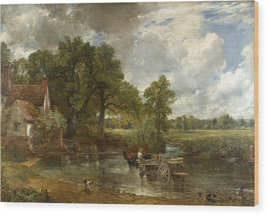 Wood Print featuring the painting The Hay Wain by John Constable