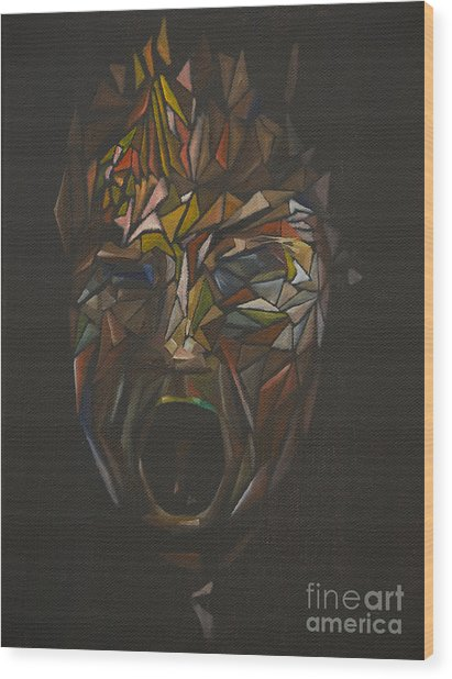 The Head Of Goliath - After Caravaggio Wood Print