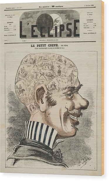 The Head Of The Man-about-town Wood Print