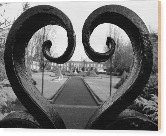 The Heart Of Dublin Wood Print
