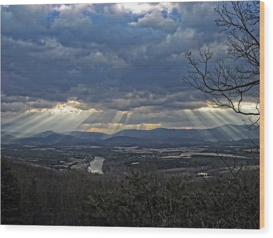 The Heavenly Valley Wood Print