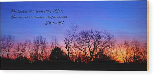 The Heavens Declare Wood Print