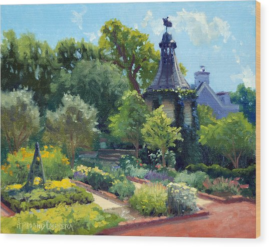 The Herb Garden Wood Print by Armand Cabrera