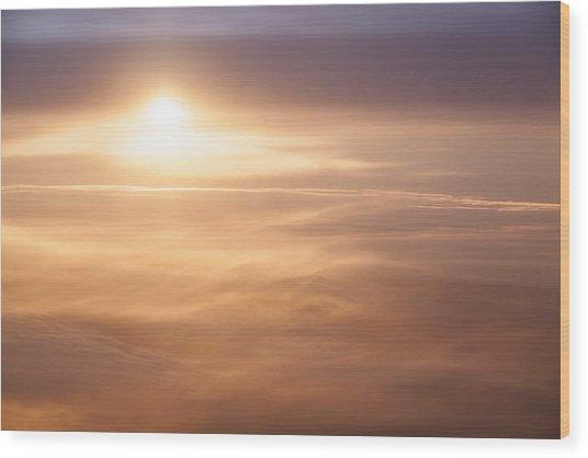 High Altitude Sunset  Wood Print