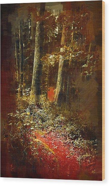 The Hike Wood Print