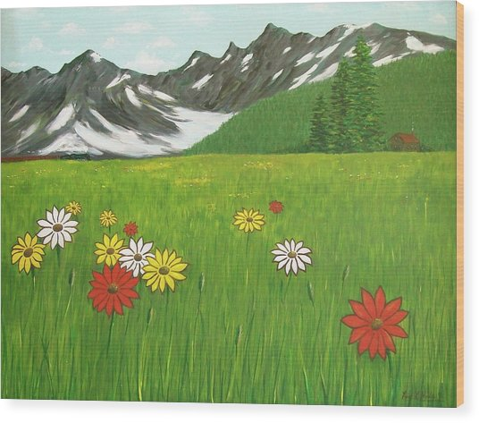 The Hills Are Alive With The Sound Of Music Wood Print
