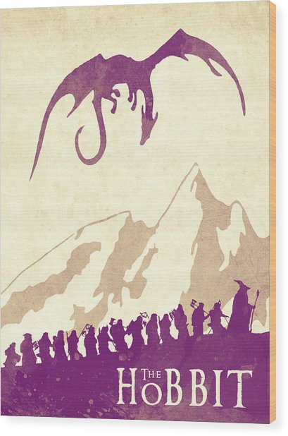 The Hobbit - Lord Of The Rings Poster. Watercolor Poster. Handmade Poster. Wood Print