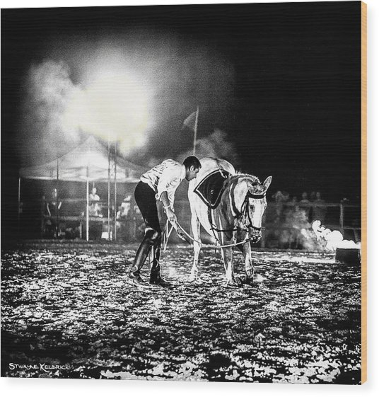 Wood Print featuring the photograph The Horse That Suffered  by Stwayne Keubrick