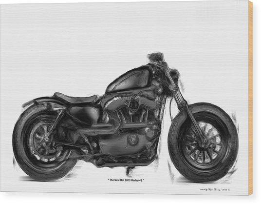 The Hot Harley 48 Wood Print