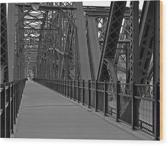 The Hot Metal Bridge In Pittsburgh Wood Print