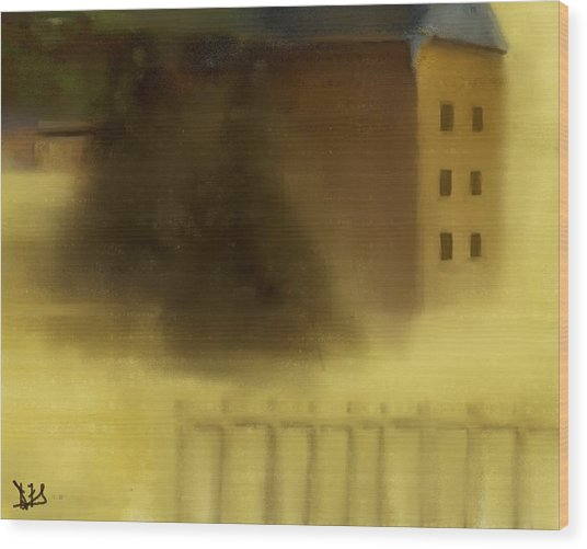 The House Beyond The Fence #c-2 Wood Print