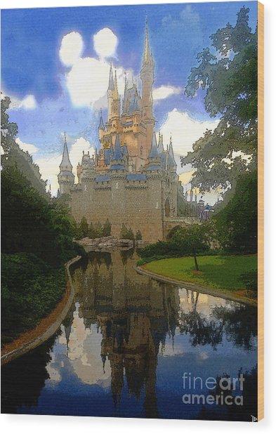 The House Of Cinderella Wood Print