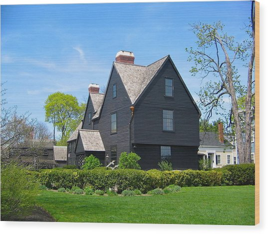The House Of The Seven Gables Wood Print