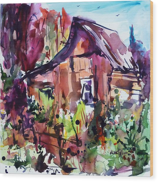 The House On The Edge Of The Forest Wood Print