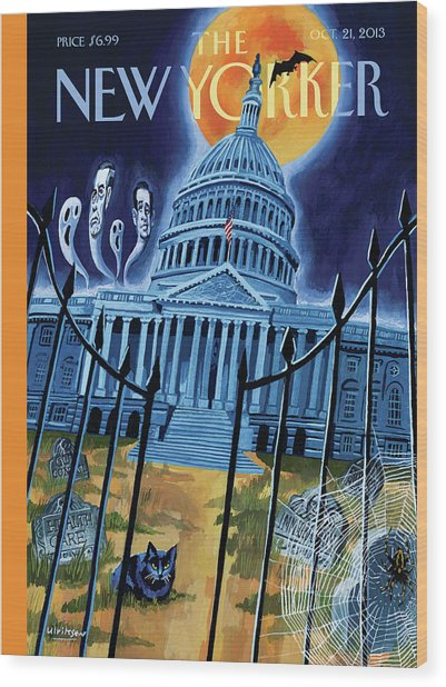 The House Republicans Haunt The Captiol Building Wood Print