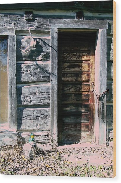 The Hundred Year Old Door Wood Print