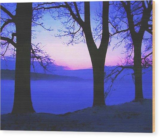 The Hush At First Light Wood Print