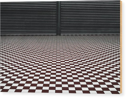The Hypnotic Floor Wood Print by Gilbert Claes